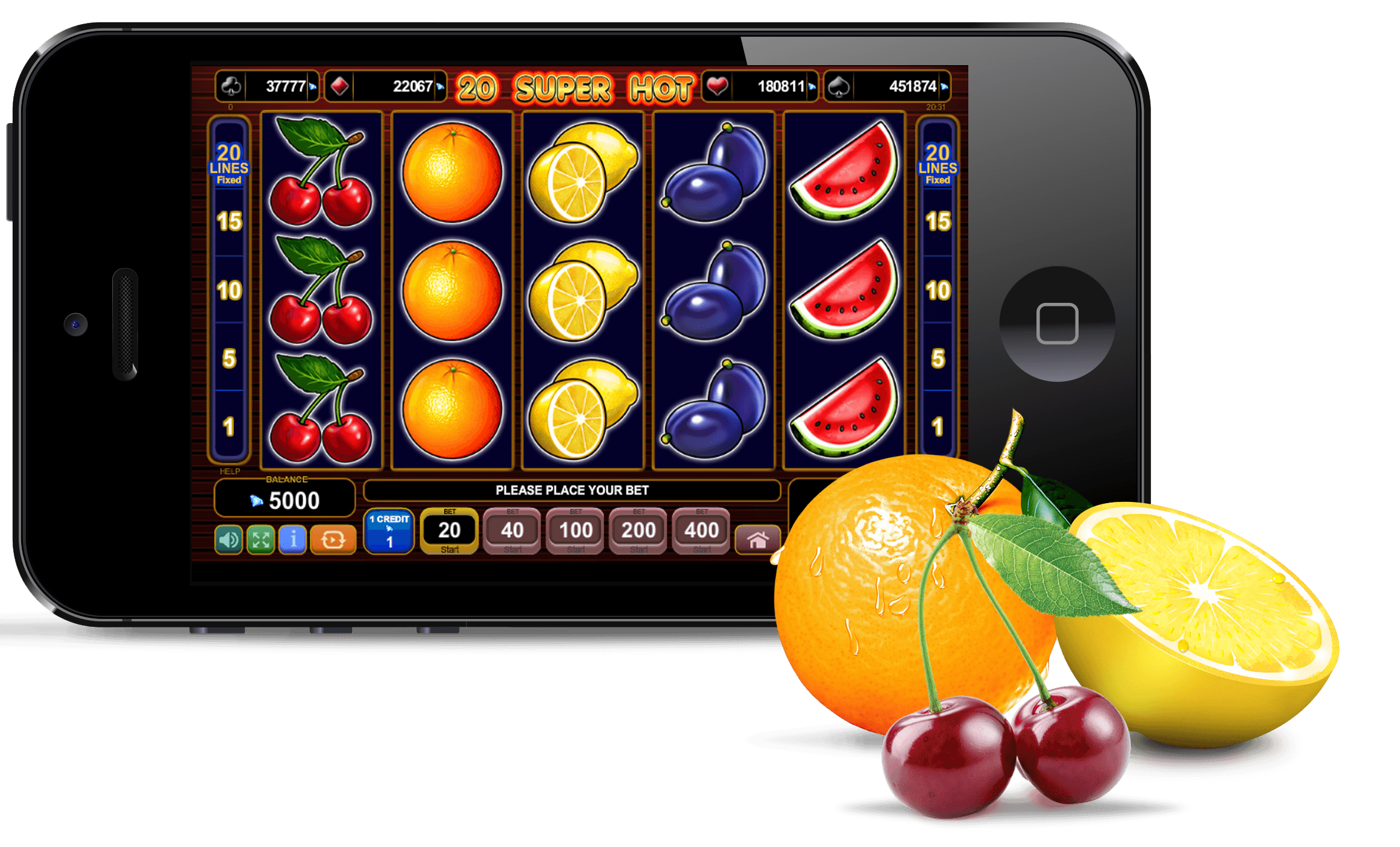Play Free 40 Super Hot Slot