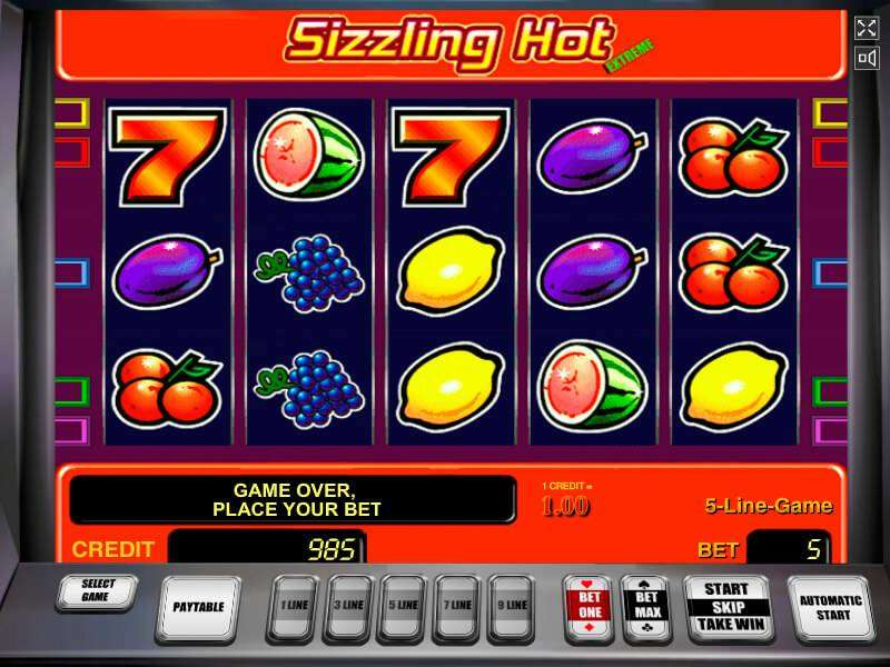 play online casino slots sizzling hot play