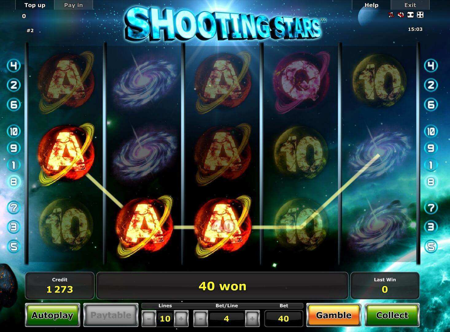 Shooting Stars Supernova Slot Machine - Play Online for Free