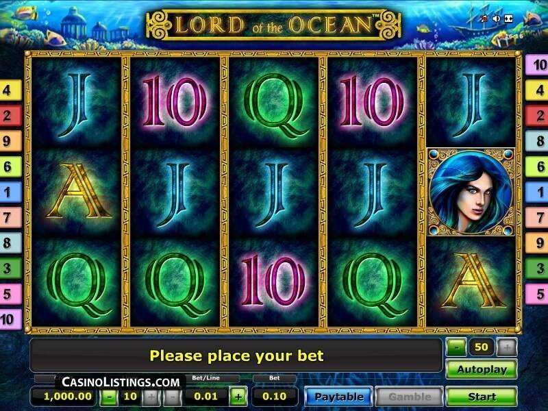 deposit online casino lord of the ocean