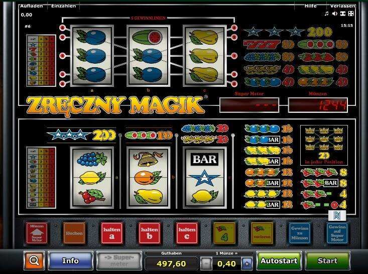 Zreczny Magic slot machine