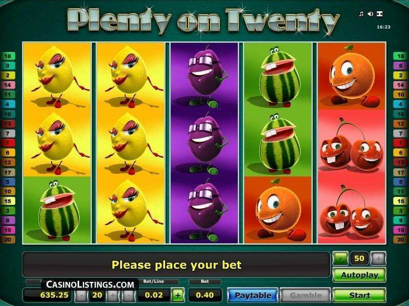 Plenty of Fruit 20 Slot - Find Out Where to Play Online