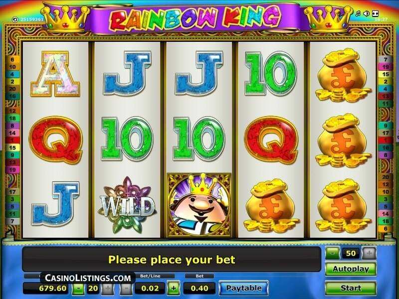 best online casino offers no deposit rainbow king