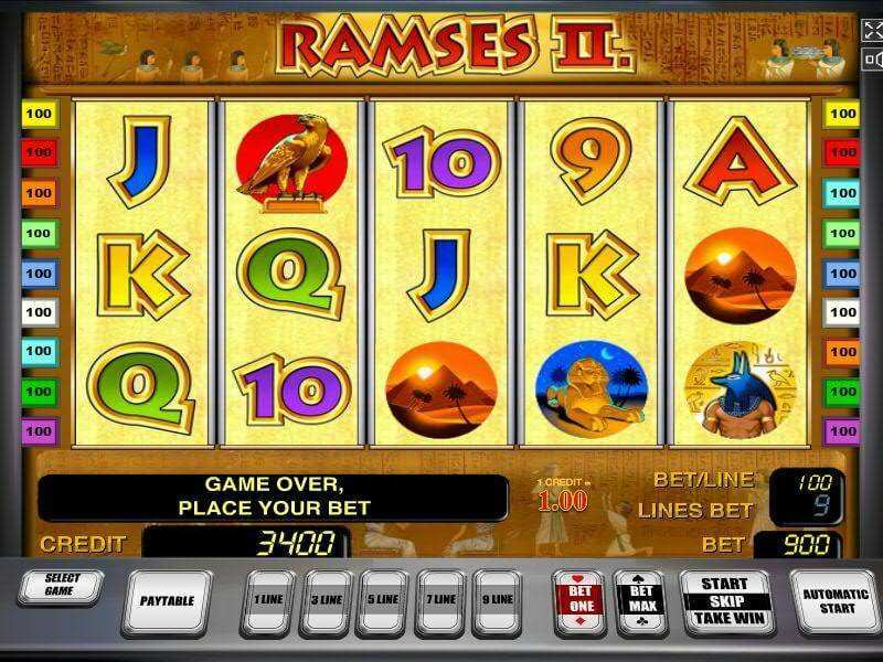 Ramses 2 Slot Machine - Play Now with No Downloads
