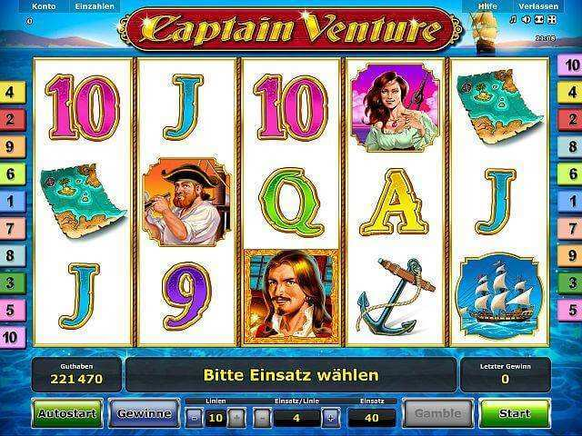 Captain Venture Slot Machine - Play for Free Online