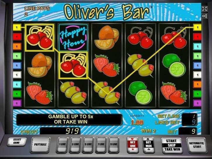 bonus slot machine bar