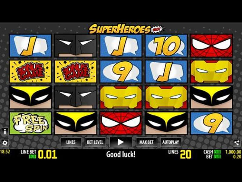 SuperHero Reels Slot Machine - Try the Free Demo Version