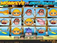 Monkeys vs sharks slot machine game