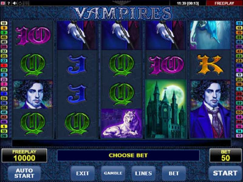 Vampires Slot Play Free Online Amatic Read Review 2021