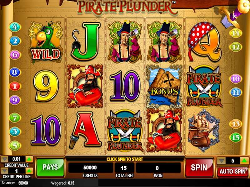 Pirates Plunder Slot Machine - Play Free Casino Slot Games