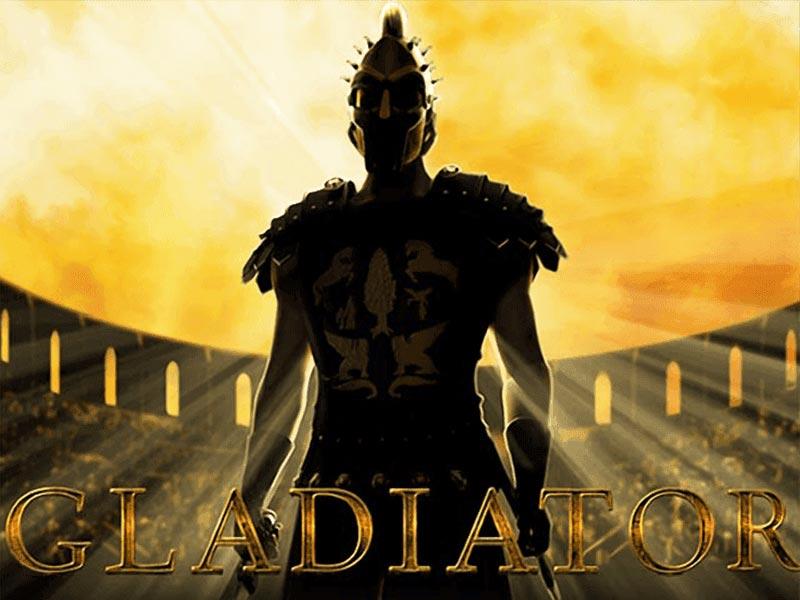Gladiator slots machine logo