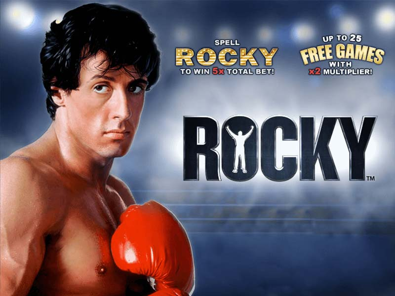 Rocky slots machine logo