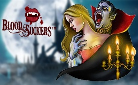 €100 + 100 Free Spins by Sloty Casino on Blood Suckers Slot