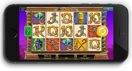 Mobile Cleopatra slot machine game to play online