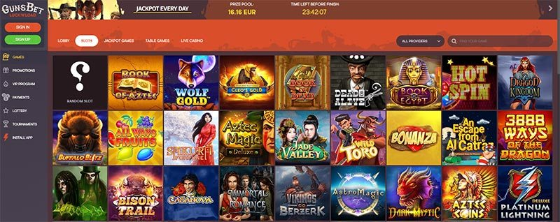 Gunsbet Casino Games