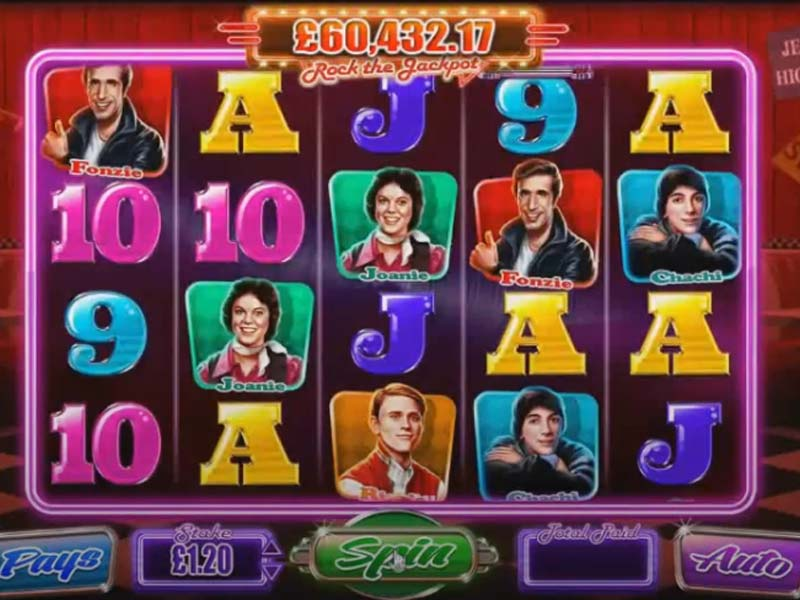 Happy Days Rock the Jackpot Slot Featured Image