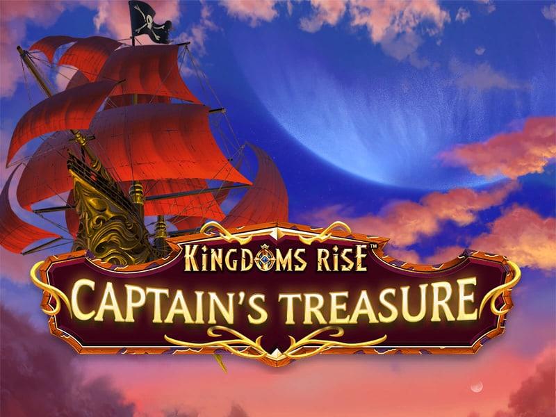 Kingdoms Rise Captains Treasure Slot Logo