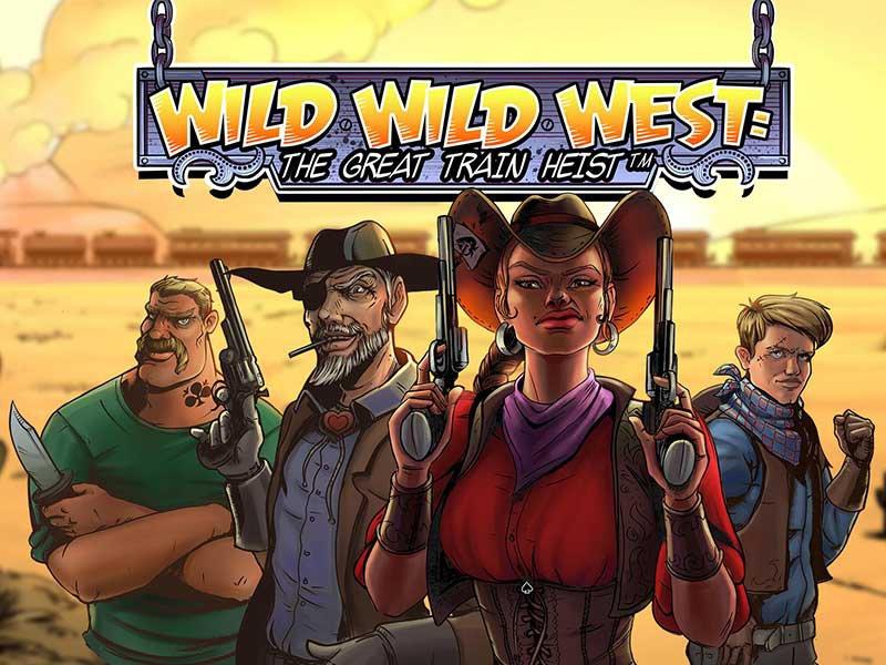 Wild Wild West The Great Train Heist Slot Featured Image
